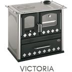 Cucina a legna Victoria potenza 7,6 kW refrattario - inserimento