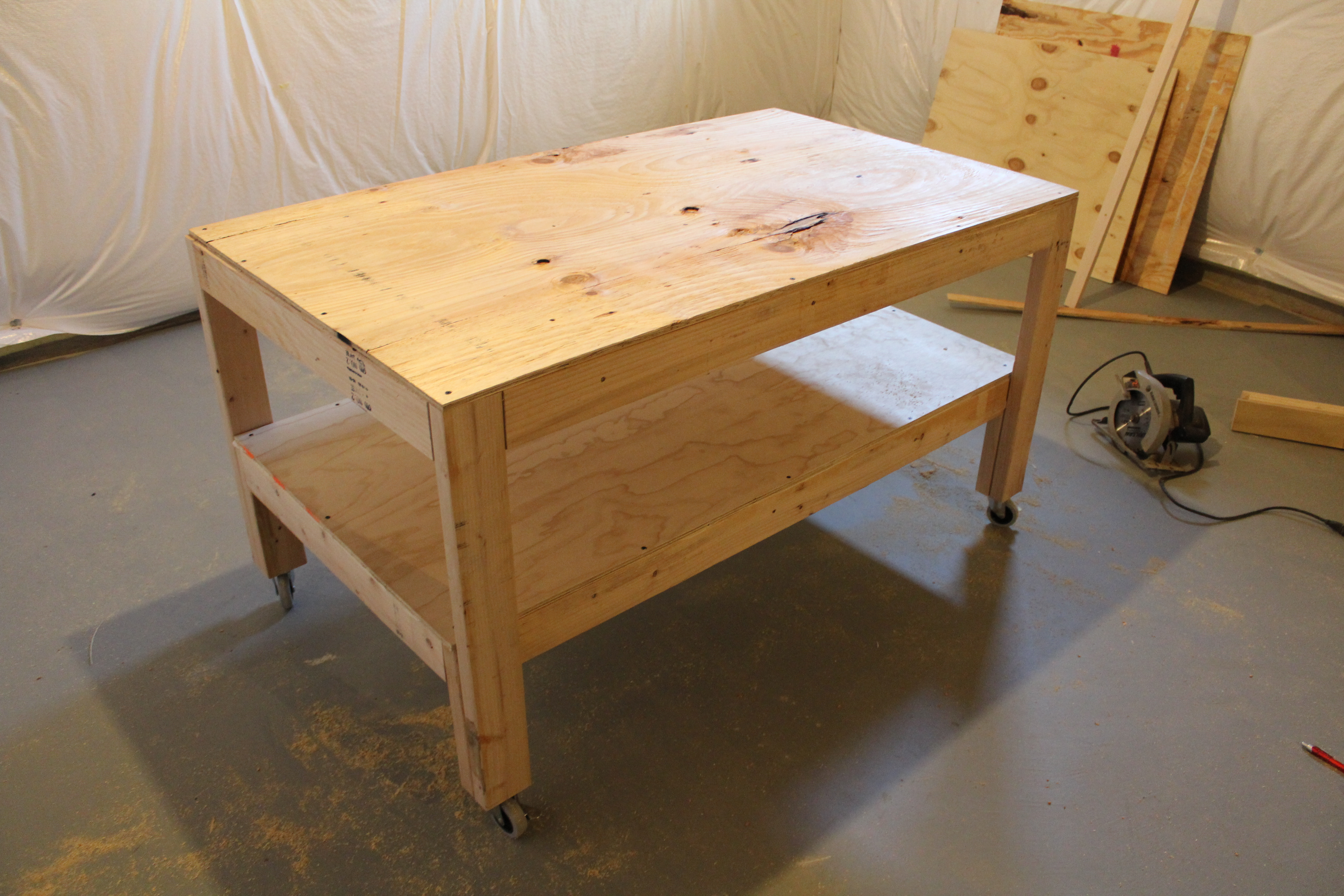 How To Build Workbench Plans On Casters Plans Woodworking