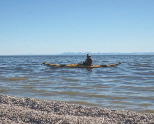 kayak on the Salton sea