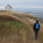 Hiking to East Point, Saturna Island