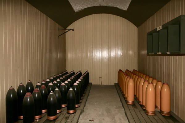 Munitions storage under the upper battery at Fort Rodd Hill