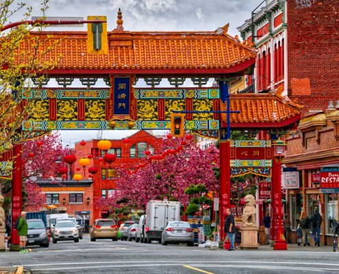 The Gate of Harmonious Interest in Chinatown, Victoria, BC