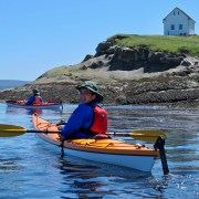 Kayaking around East Point Saturna Island, BC