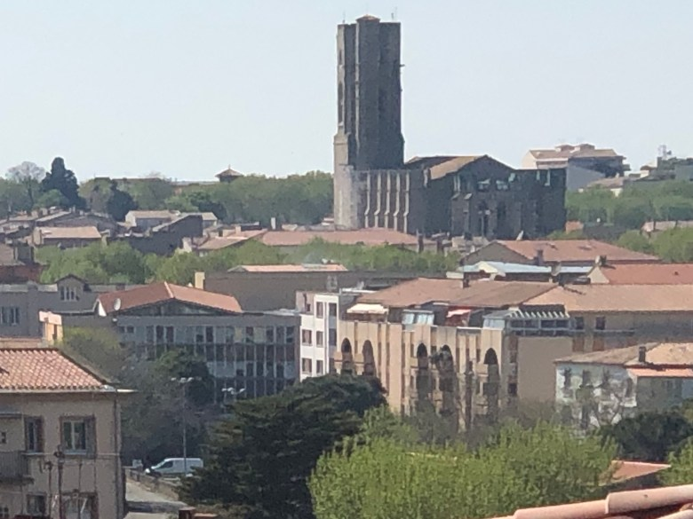 Tower of St. Vincent church in Carcassonne