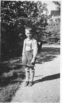 Harald as a young boy during Nazi occupation in Norway Coming out of Confinement in Carcassonne