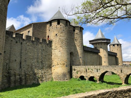 Carcassonne's walled city Chateau Comptal