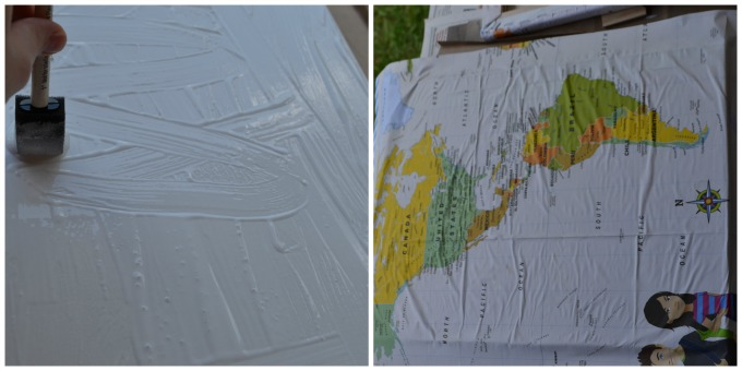 Turn maps into canvas wall art tutorial our homemade life canvas maps layyer gumiabroncs Images