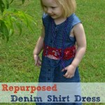 Repurposed Denim Shirt Dress