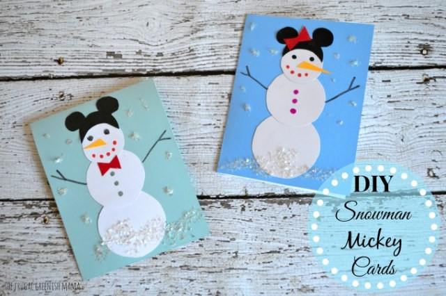 DIY Snowman Mickey cards