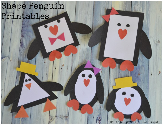 Shape Penguin Printables 1