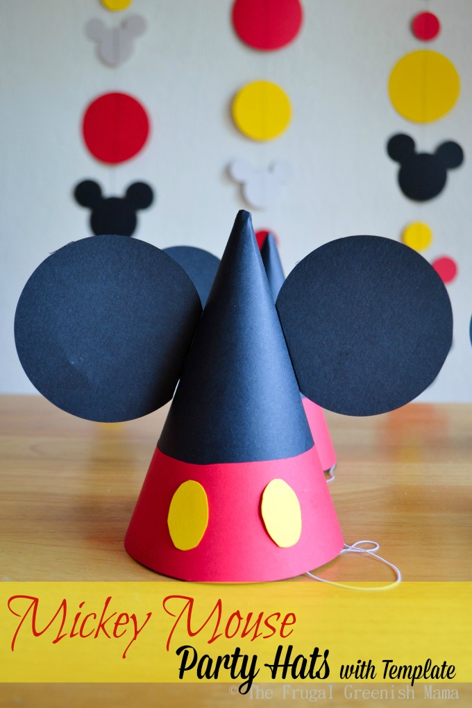 DIY   Mickey Party Hats with TemplateDIY   Mickey Party Hats with Template   Our Homemade Life. Diy Party Hats Template. Home Design Ideas