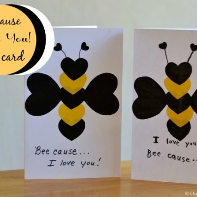How to Make a Card: Beecause I Love You Kids Card