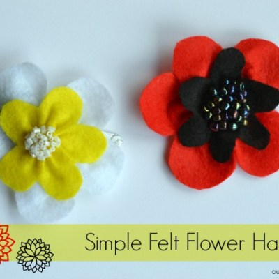 How to Make a Simple Felt Flower Hair Clip