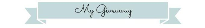 my giveaway banner