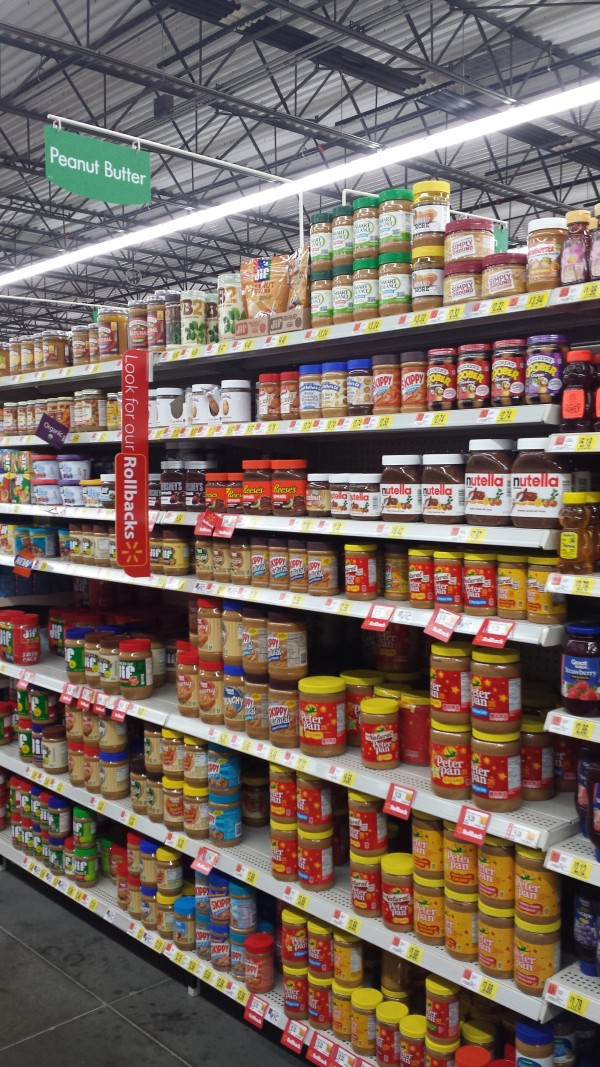 jif peanut powder aisle at walmart