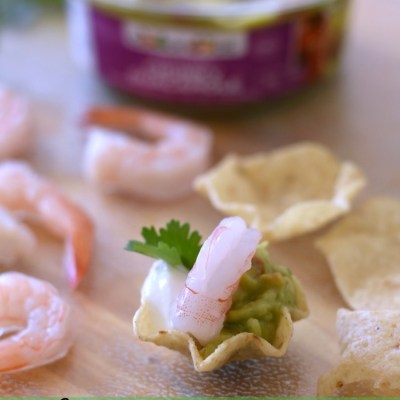 Spicy Shrimp Taco Guacamole Bites Recipe