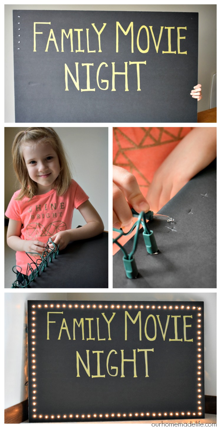 DIY Lighted Marquee Sign Tutorial - OurHomemadeLife