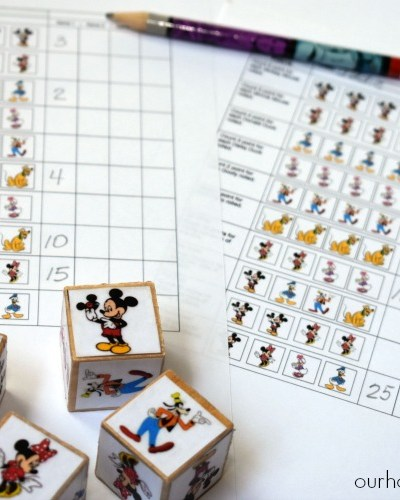 DIY Mickey and Friends Dice Game