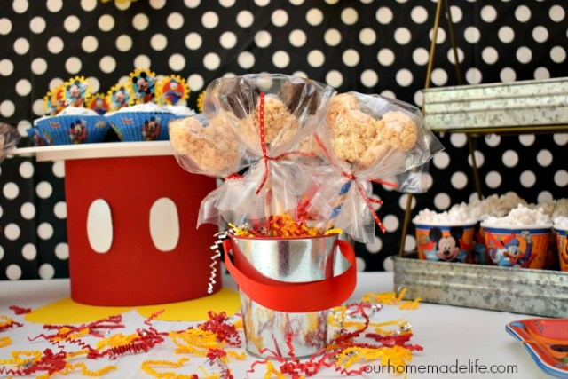 DIY Mickey Mouse Rice Crispy Treats - OurHomemadelife.com