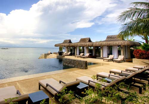 a beautiful infinity pool at abaca resort in philippines