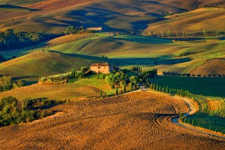 Meadow Hill in Tuscany