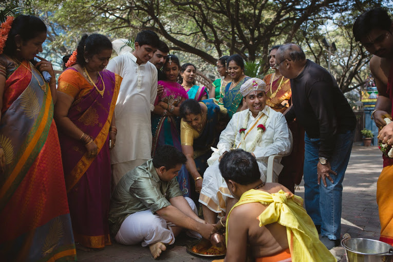 Kashi Yatra - Where the brother of the bride welcomes the groom by washing his feet