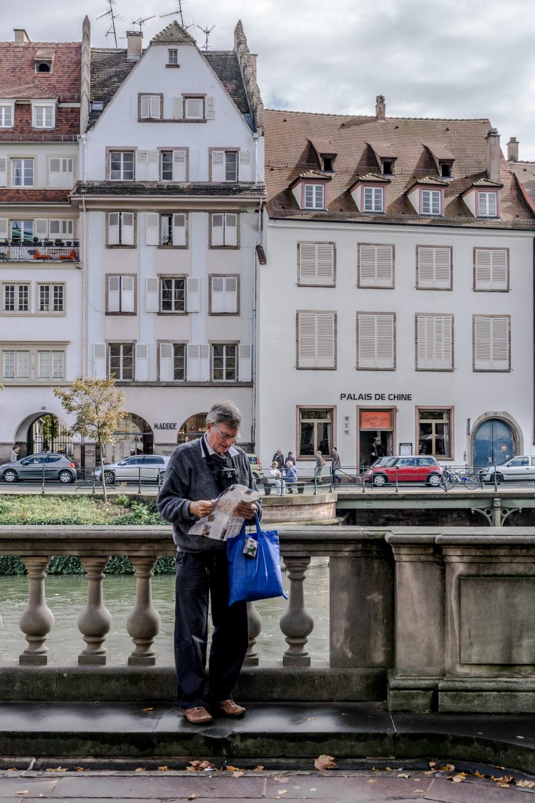 Tourist in Strasbourg
