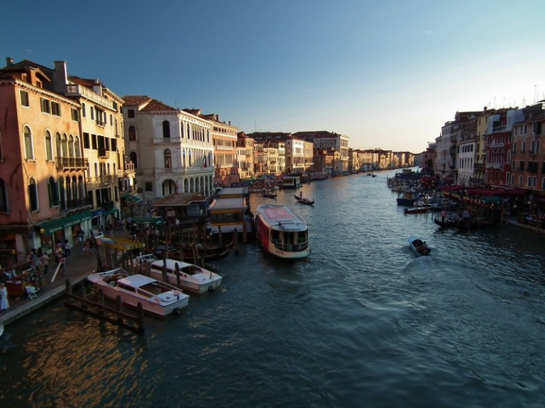 Dining in Venice along the Grand Canal