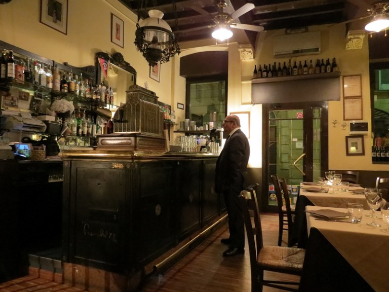 Relaxing in a quaint Milano ristorante