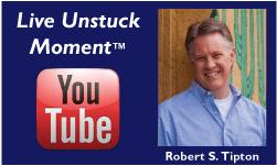 Live Unstuck Coaching Moment Logo, © 2011, Robert S. Tipton