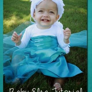 Baby Elsa Costume Tutorial