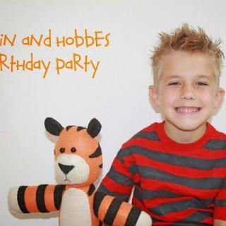 Calvin & Hobbes Birthday Party