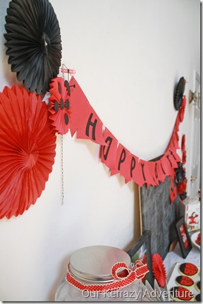 Easy Party decorations Red and Black Our Kerrazy Adventure