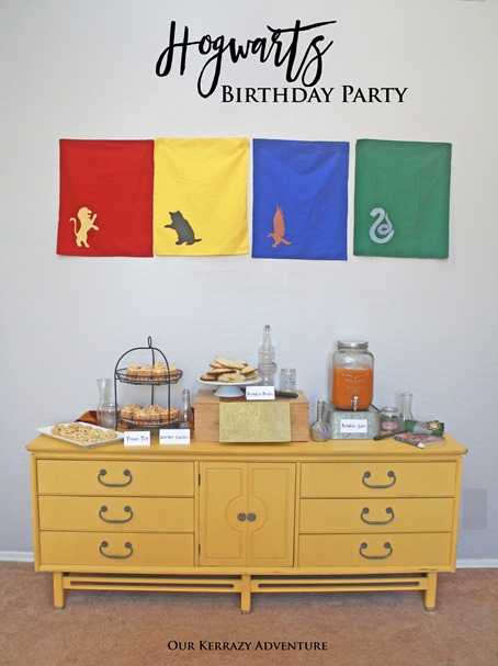Hogwarts Birthday Party Ideas- Great Hall Ideas-