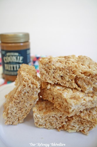 Switch up your Rice Krispies by adding Cookie Butter