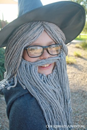 Diy gandalf costume tutorial our kerrazy adventure easy costume ideas for boys gandalf from lord solutioingenieria Images