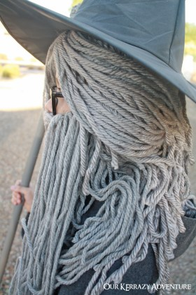 Diy gandalf costume tutorial our kerrazy adventure use gray yarn for a gandalf costume make solutioingenieria Images