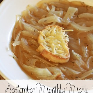 September Monthly Menu Ideas