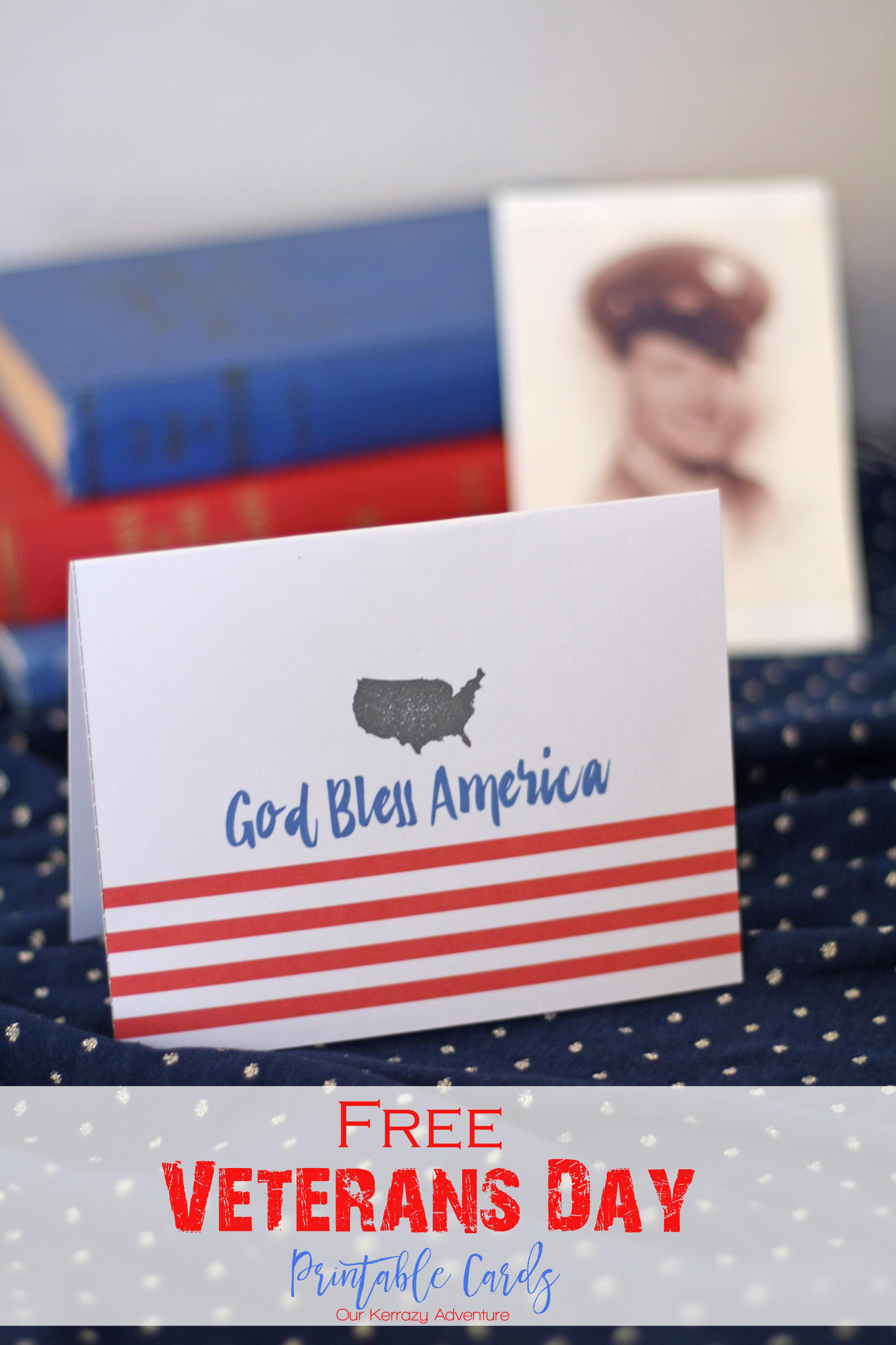 Free Veterans Day Card Printable