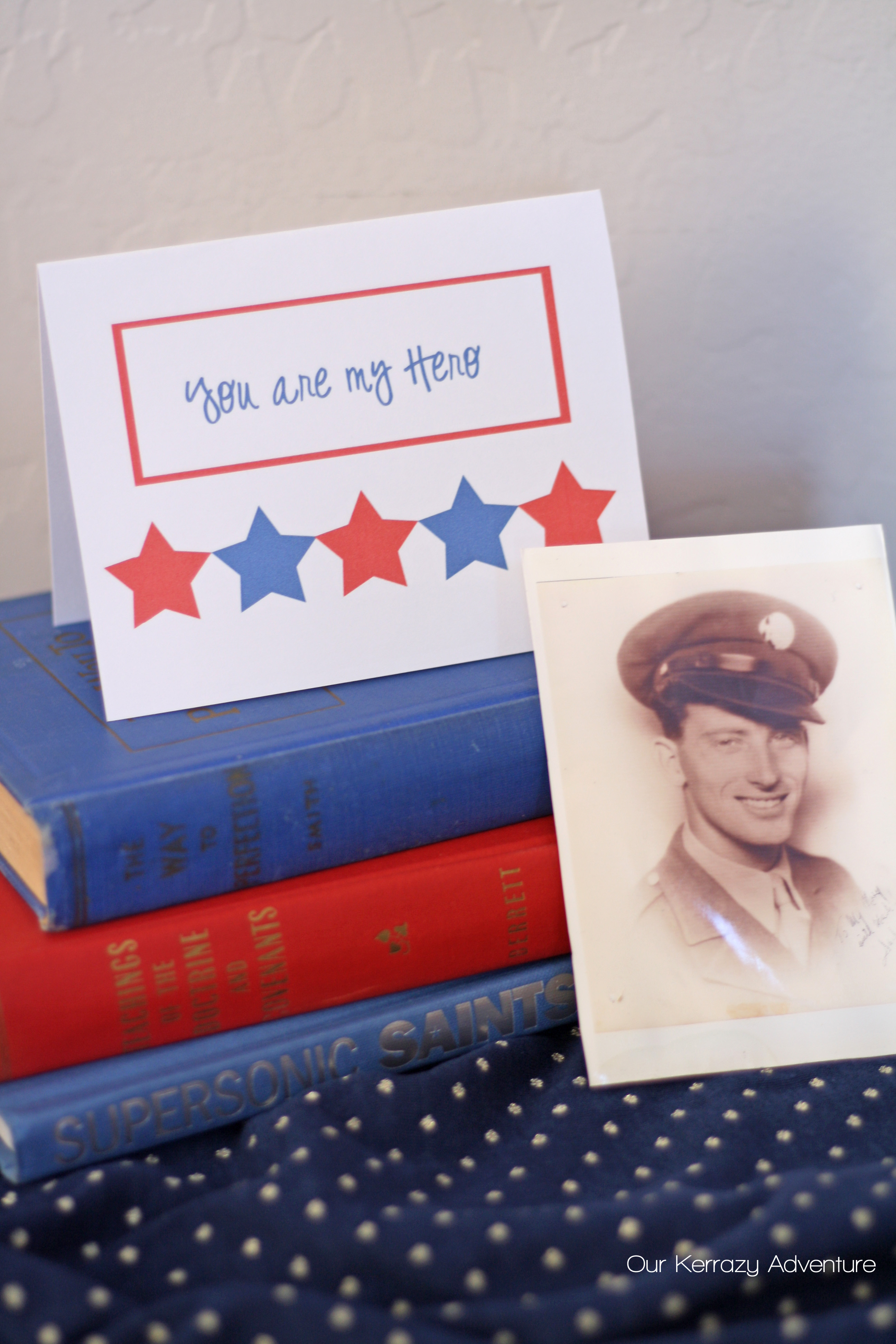 picture about Free Printable Veterans Day Cards called Free of charge Veterans Working day Card Printable - Our Kerrazy Journey
