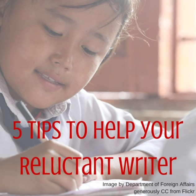 5 tips for your reluctant writer