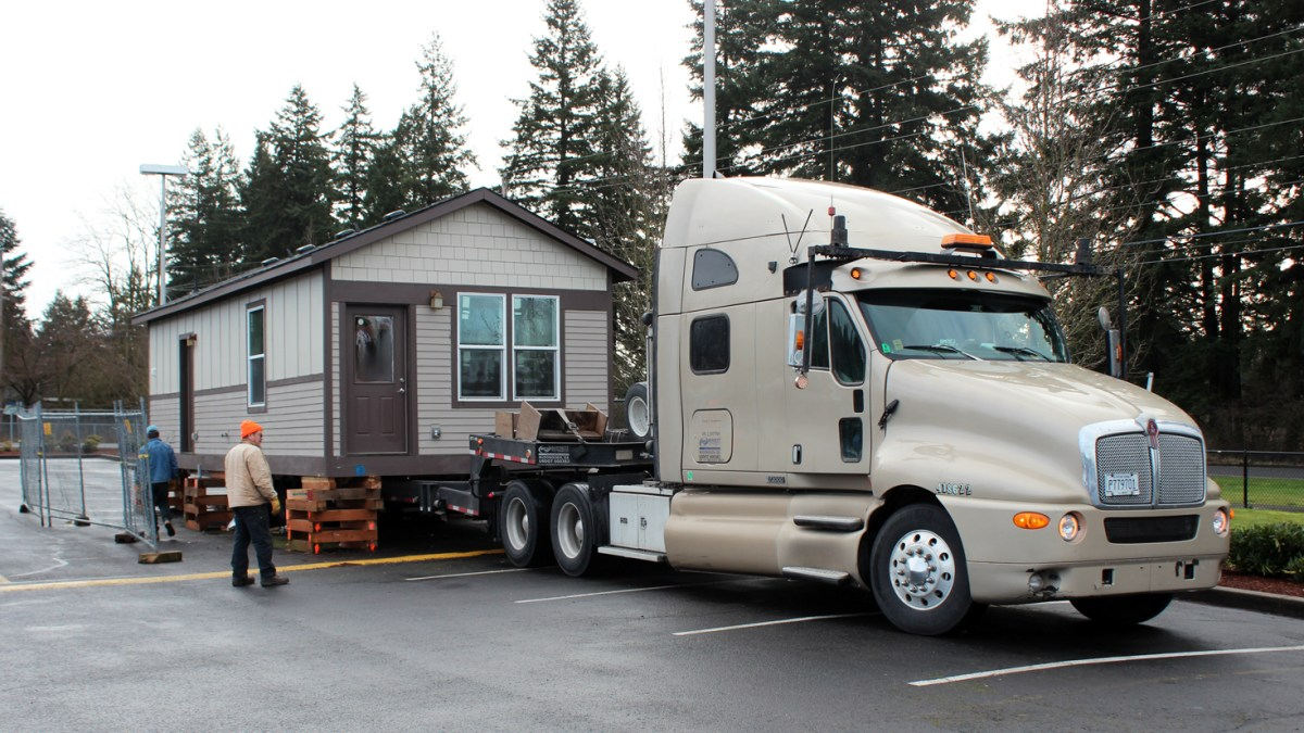 Modulars built by Evergreen students find new homes