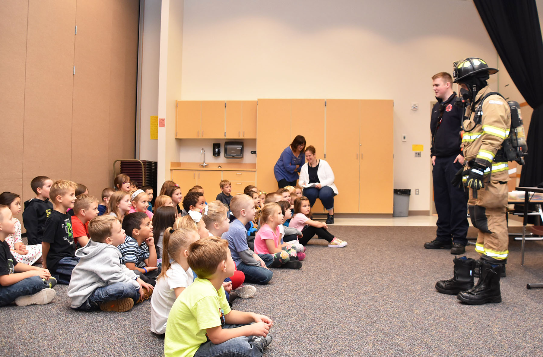 firefighters speak to a class