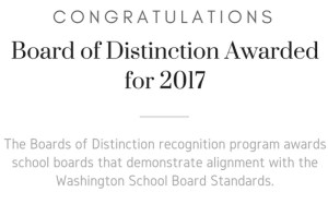 decorative image indicating Eatonville was recognized as a Board of Distinction for 2017