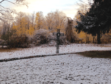 Stations of the Cross after the First Snow