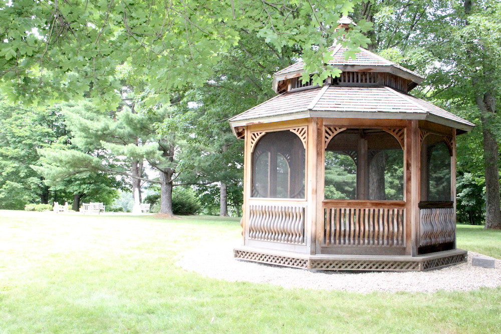 Gazebo on the grounds at OLC