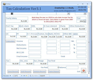indian income tax calculator software free download