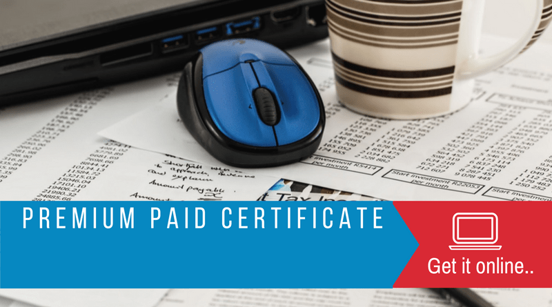 Premium paid certificate statement get online LIC