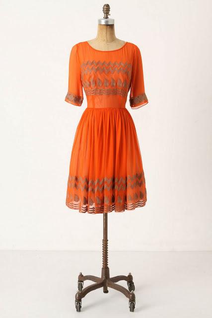 Anthropologie Tangerine Flicker Dress DIY | Life is Beautiful