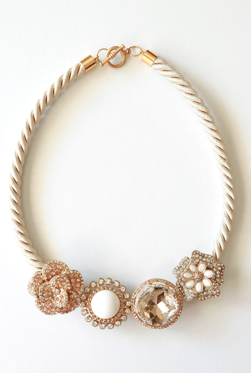 How to make your own Anthropologie majorelle necklace DIY